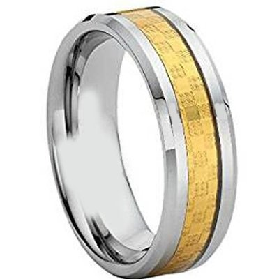 coi jewelry tungsten carbide carbon fiber wedding band ring 戒指all sizes