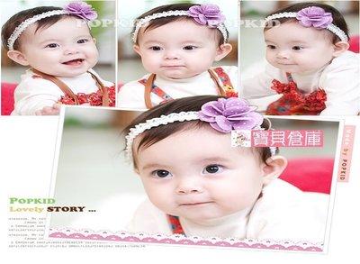寶貝倉庫~韓版~寶寶點點立體小花髮帶~...