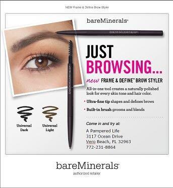 現貨 全新 bareminerals frame and define brow styler universal dark 持久旋轉礦物眉筆 ?歡迎面交
