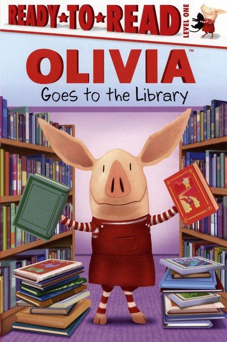 *小貝比的家*OLIVIA GOES TO THE LIBRARY /L1 /平裝/3~6歲