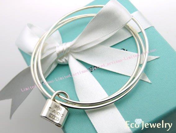 《Eco-jewelry》【Tiffany&Co】 經典款 1837鎖頭三環手環 純銀925手環~專櫃真品 已送洗