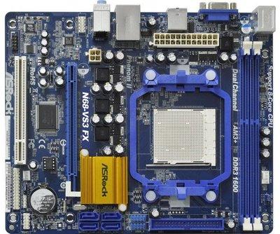 華擎N68-VS3 FX整合型主機板、DDR3、FSB1000、PCI-E【支援UCC開核功能、支援自由超頻技術】