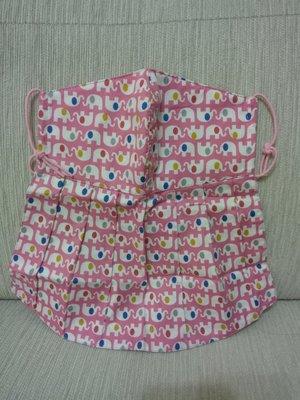 天使熊雜貨小鋪~新純手工日本布立體口罩(2款大象口罩)大人加長版-單車必備~原價450