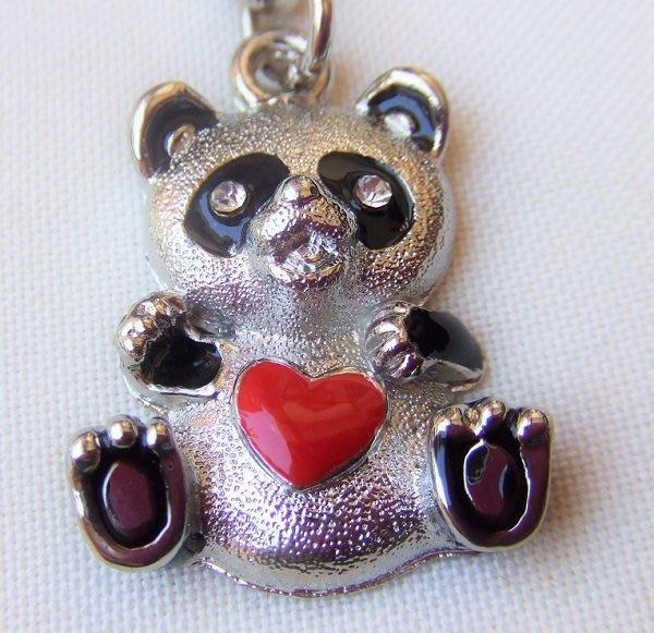 ☆創意小物店☆ 熊貓A-7 鑰匙扣/創意可愛金屬鑰匙圈 時尚造型個性飾品(扁圈或問號鉤  二選一)