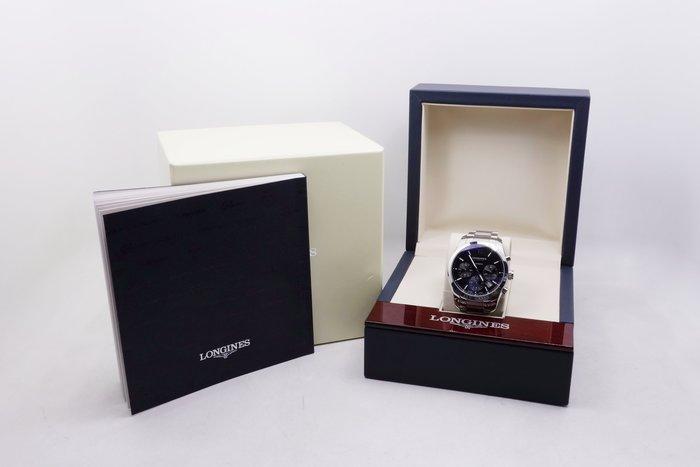 【台中青蘋果】浪琴錶 Longines 征服者多功能計時腕錶 黑 41mm L27864566 二手 男錶 #10025