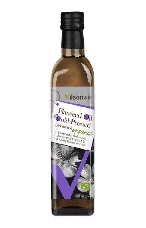 【喜樂之地】米森 有機冷壓亞麻籽油-去苦味 250ml/瓶 買一送一 有效期限2021.05