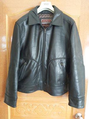 Marlboro Classics 厚牛皮 黑色 機車 飛行 夾克 皮衣