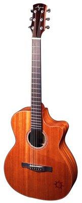 【又昇樂器 . 音響】AYERS O-03CW 小太陽 全單版 搭配奧昇系統 民謠吉他