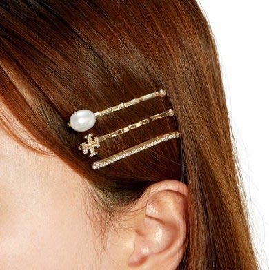 【全新正貨私家珍藏】TORY BURCH kira Hair Pin SetT  髮夾/夾子((3件式))