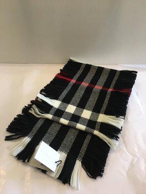 全新 BURBERRY KIDS checked scarf 羊毛圍巾 大童( 大人也可) 現貨
