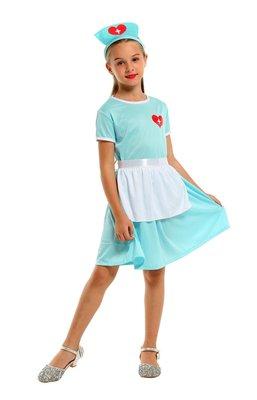 乂世界派對乂萬聖節服裝,萬聖節服飾,變裝派對,兒童變裝服 /兒童護士服裝 / 愛心小護士