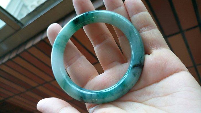 A貨 天然 緬甸 飄花玉鐲 手環