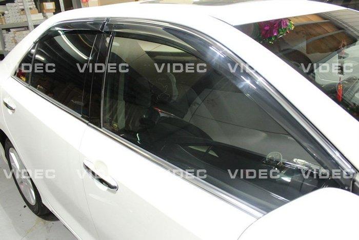 威德汽車精品 豐田 TOYOTA NEW CAMRY 七代 原廠型 卡扣式 鍍鉻 晴雨窗 一組4片 HYBRID 油電車可裝