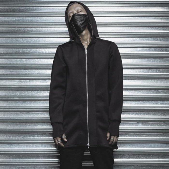 【免運費】暗黑朋克 INS歐美潮牌皮質口罩 GD個性明星機車男女裝飾純色面罩QD3C-Y437