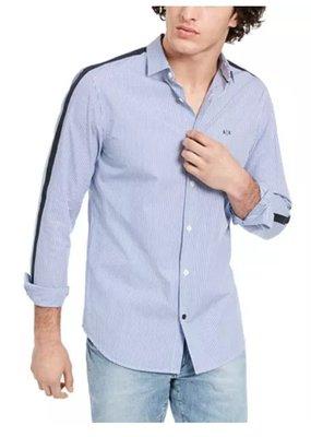 美國代購 AX ARMANI EXCHANGE 棉質 條紋襯衫 (S~XL) 1357