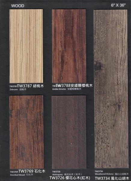 時尚塑膠地板賴桑~ 創意非凡37系列~ 超耐磨長條木紋塑膠地板~每坪2000元起(四面倒角)