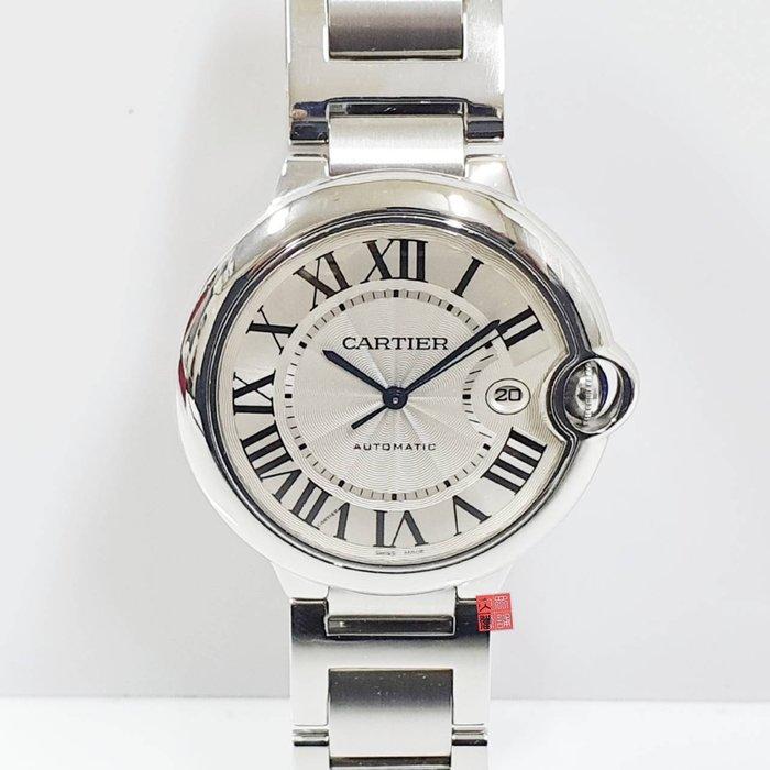 送禮禮物禮品 CARTIER 卡地亞 藍氣球 錶徑42mm自動機械 藍寶尖晶石錶冠 摺疊扣 大眾當舖 編號2998