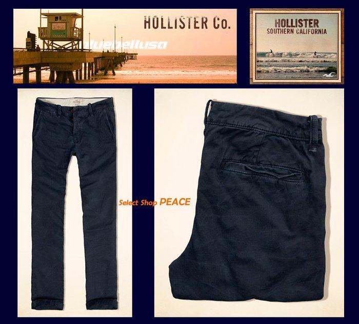 Hollister 美國【現貨↘打6折】31吋 休閒褲 Slim Straight Chinos