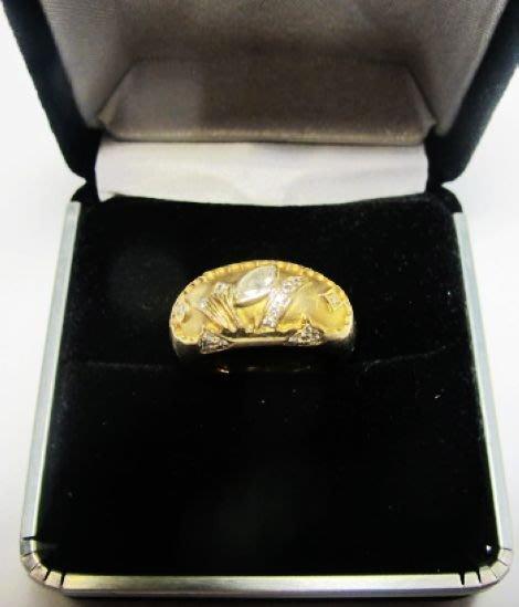 [一品軒促銷品]天然鑽石0.30克拉+細鑽黃18k戒指