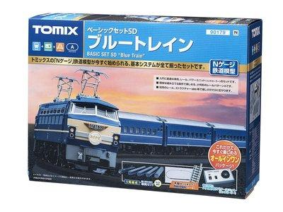 八田元氣小棧:日版-全新 90179 N規 EF66 Blue Train.富士列車 鐵道模型 基本入門套裝組