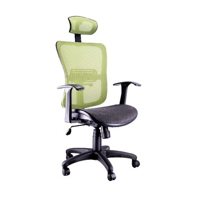 螞蟻雄兵 LV-B21 網布辦公椅(綠色款) 電腦椅 職員椅 會議椅 電競椅 透氣舒適 人體工學 頭枕 辦公桌椅 椅子