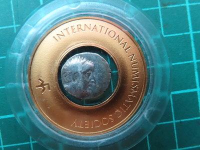 公元前1世紀卡帕奇亞王朝阿里奧巴贊斯一世 Drachm銀幣