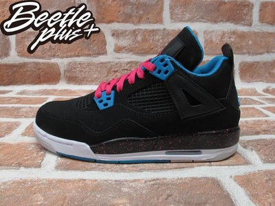 BEETLE PLUS 全新 NIKE GIRLS JORDAN 4 RETRO PS 四代 南灣配色 潑漆 487725-019 童鞋 20 CM