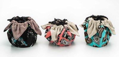 呈現攝影-手作 超細纖維包布束口袋 小號 30x30cm 大開口 保護袋 收納袋 清潔布 相機袋 珠寶首飾