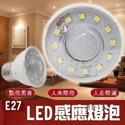 E27 感應燈泡 感應燈 燈泡 感應燈 人體偵測 人走就滅 正白光 LED燈泡 節能燈泡 省電燈泡 光控燈 紅外線
