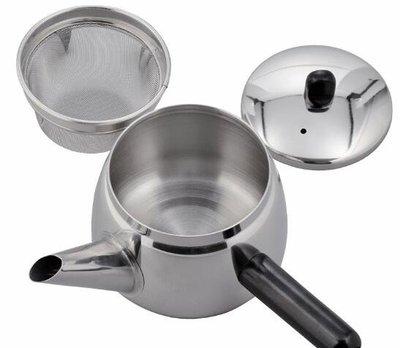 日本進口 限量品 304不鏽鋼側手把煮水壺滾水壺泡茶壺有濾網煮茶壺泡花茶壺  4779c