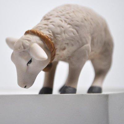 千禧禧居~Cershar 外單出口陶瓷裝飾動物 小綿羊 小擺件 場景裝飾 節日禮物
