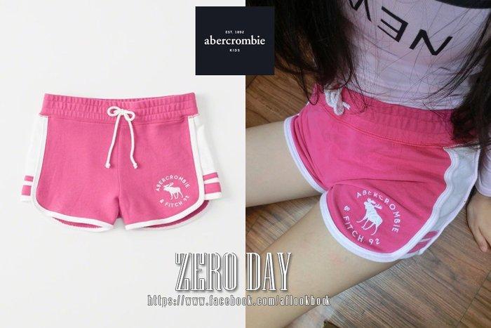 零時差美國時尚網a&f真品abercrombie&fitch girls pull-on shorts麋鹿休閒短棉褲粉紅