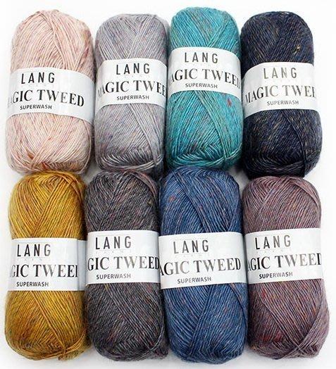 進口毛線LANG MAGIC TWEED 馬克花呢線~圍巾、帽子、披肩~手工藝材料、編織書、編織工具 ~【彩暄手工坊】