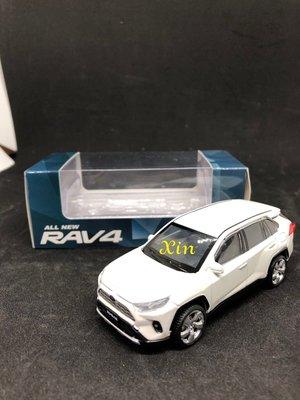 TOYOTA原廠RAV4五代 LED迴力車 尺寸1:43 白-免運費