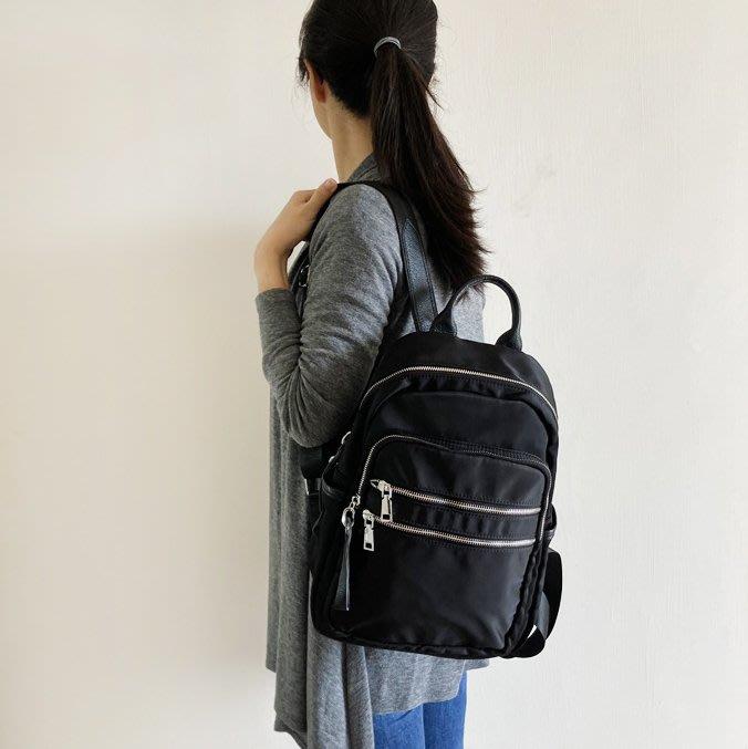 【里樂@ LeaThER】 防潑水尼龍多隔層背包 雙肩包 後背包 媽媽包 781