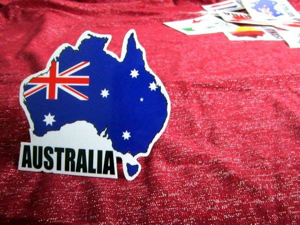 【國旗貼紙專賣店】澳洲國旗地圖抗UV、防水行李箱貼紙/澳大利亞/多國可收集訂製