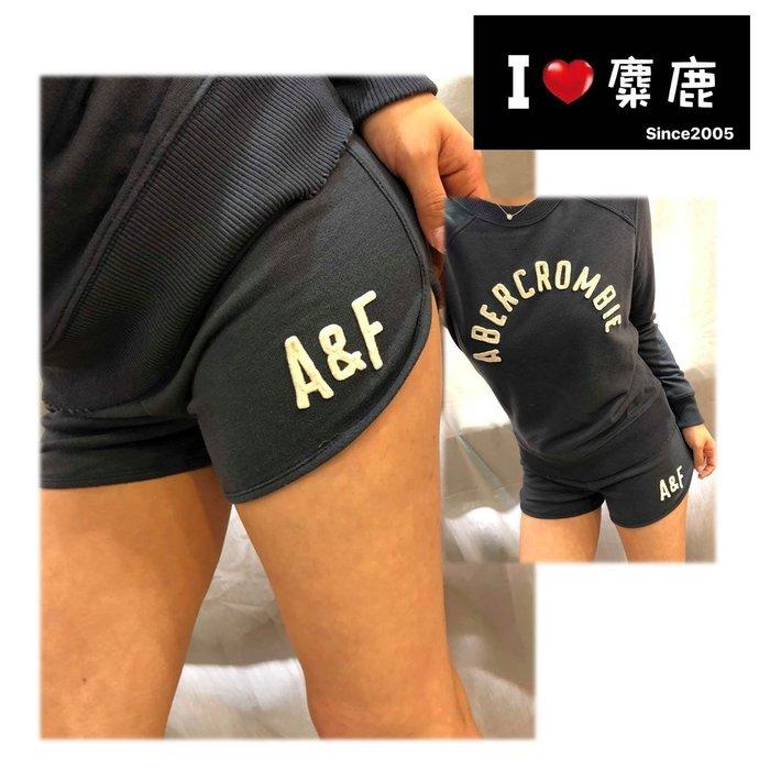 A&F AF 英文字LOGO運動短褲 Abercrombie&Fitch 我愛麋鹿 AF 正品專賣店