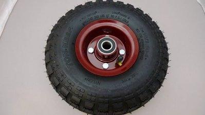 附發票*東北五金*最新專利高品質 10吋 PU輪 風輪 打氣輪胎 手推車輪 採用實心雙培林 耐用度高!