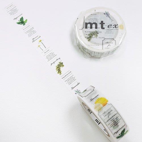 《散步生活雜貨-和紙膠帶》 日本mt ex系列 .花草圖鑑 紙膠帶 15mm 單捲-MTEX1P147
