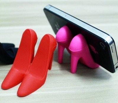 全新 高跟鞋支架 一紅色High-heel iPhone 女性必備 HTC 手機支架 可愛手機配件 三星 Sony 通用