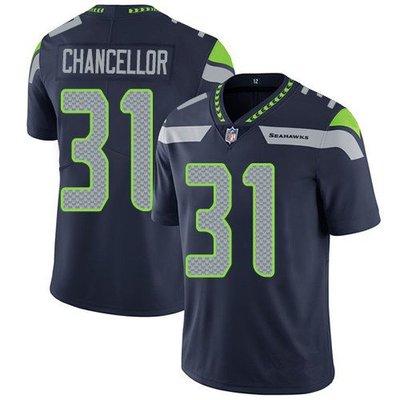 100CM-140CM胸WWE NFL橄欖球球服 SEAHAWKS 海鷹 31 CHANCELLOR 二代傳奇刺繡球衣