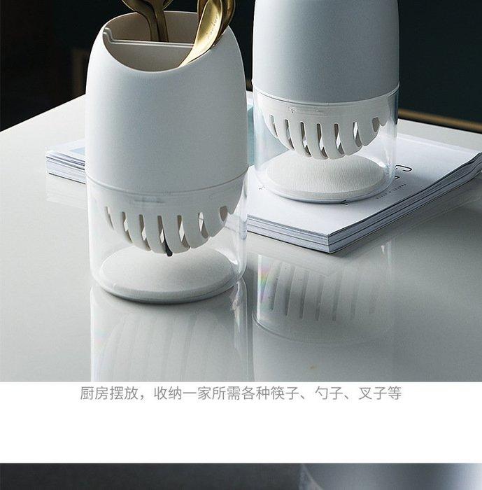 筷子筒塑料廚房家用多功能藻泥瀝水筷子籠帶蓋防塵刀叉餐具收納盒