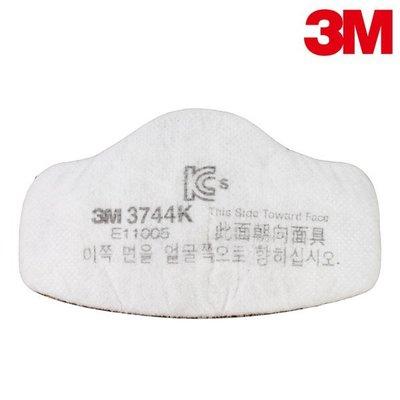 【醫碩科技】3M 3744 P2級活性碳濾棉1片 過濾電銲煙燻粉塵 需搭配3M 3700固定盒及3200防毒口罩