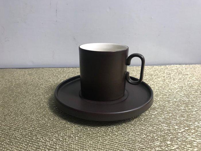 【無敵餐具】美國濃縮咖啡杯+杯盤-咖啡色(100cc)黑咖啡/接受印製專屬logo/Espresso【L0066】