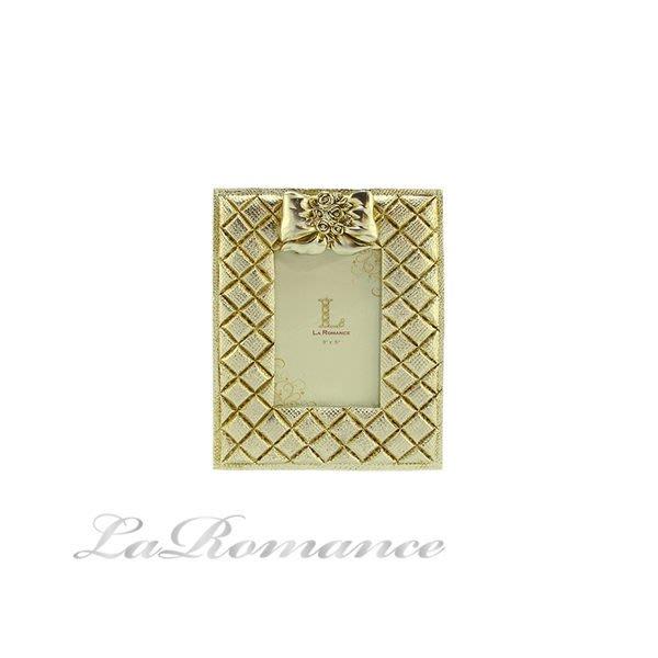 【芮洛蔓 La Romance】蝴蝶結金銀箔3 x5 相框(小) / 相本 / 照片 / 紀念日 / 結婚禮物
