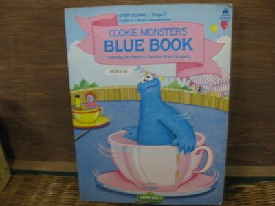 【愛悅二手書坊 15-05】Seasame Street COOKIE MONSTER'S BLUE BOOK