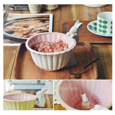 陶瓷可愛小兔碗 居家鄉村風沙拉碗點心碗_☆[好餐廳_SoGoods優購好]☆