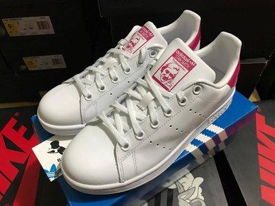 [ Butler ] 特價款 Adidas Stan Smith 白 /  桃紅 配色 大童鞋 女款 B32703 台南市