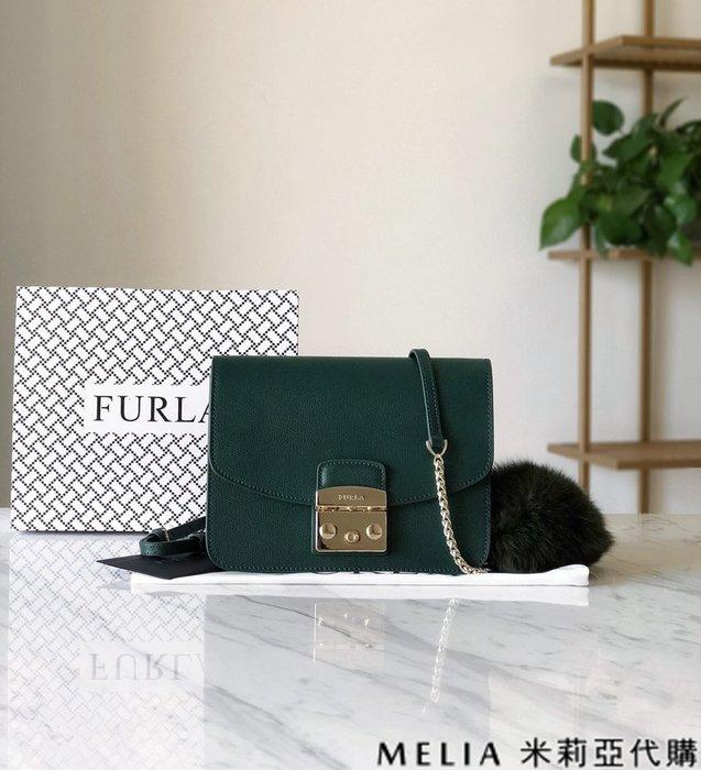 Melia 米莉亞代購 商城特價 數量有限 每日更新 19ss FURLA 芙拉 單肩斜背包 中號 送兔毛吊飾 綠色