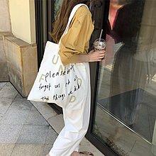 【小叮噹包包閣】 ins文藝帆布包學生單肩包手提包chic帆布袋